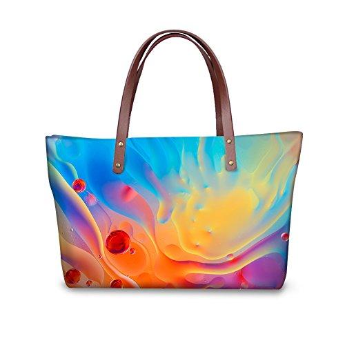 FancyPrint W8ccc4049al Satchel Vintage Handbags Women Foldable Bags Top Purse Wallets Handle rrqvgw8R