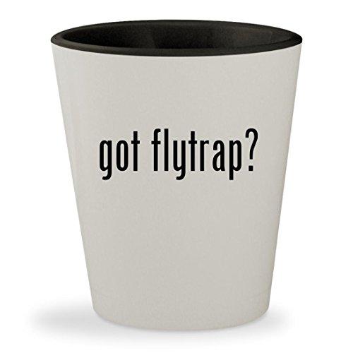 got flytrap? - White Outer & Black Inner Ceramic 1.5oz Shot Glass
