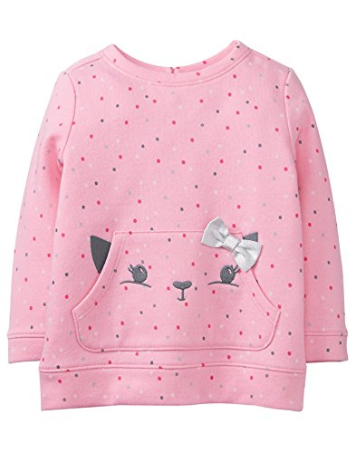 Gymboree Baby Girls Long Sleeve Winter Pullover, Tickle Me Pink, 6-12 Mo