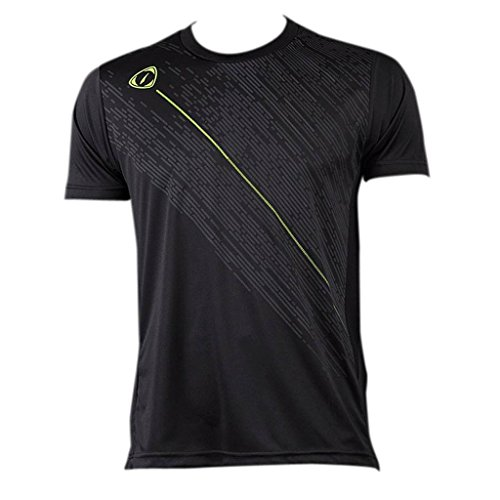Jeansian Uomo Asciugatura Rapida Sportivo Casuale Slim Sports Fashion Tee T-Shirts Camicie LSL3209 (US XL/Label XXL, LSL113_Black)