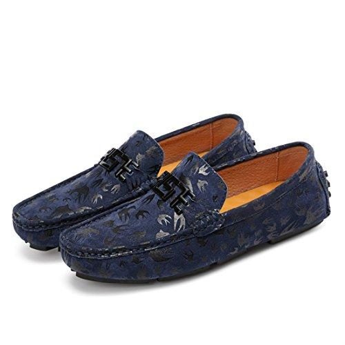 Tda Dames Comfort Suede Rijden Wandelschoenen Mocassins Loafers Bootschoenen Blauw