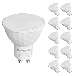 DEWENWILS Dimmable GU10 LED Bulbs, 5W(50W Halogen Replacement), 6000K Cool White, 120° Wide Beam, 350LM Recessed…