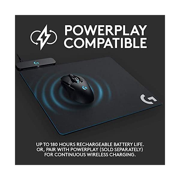 Logitech G903 LIGHTSPEED Wireless Gaming Mouse W/ Hero 25K Sensor, PowerPlay Compatible, 140+ Hour with Rechargeable…