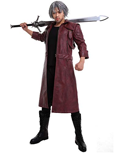 Cosplay.fm Men's Dante Cosplay Costume Pu Leather Jacket