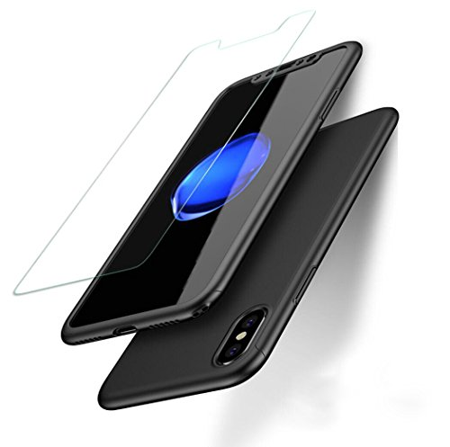 iPhone X Case,Likgus 360 Ultra Thin Full Body Protection Hard Case with Pet Screen Protector for iPhone X / iPhone 10(2017)