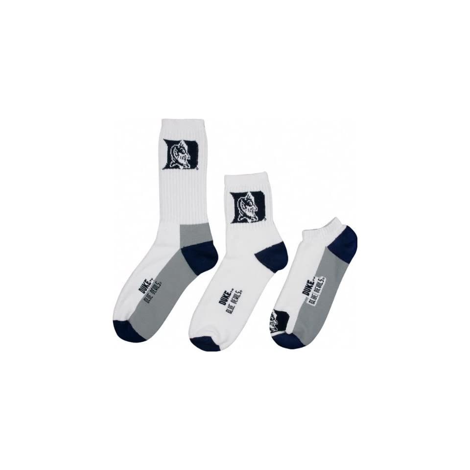 Duke Blue Devils Mens 3 Pair Sock Pack