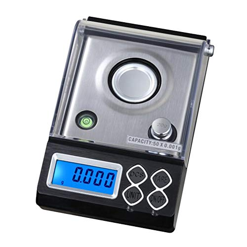 BESTONZON Mini Pocket Scale 50g Precision Digital Lab Scale for Jewlery Drug Coins