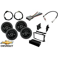 Fits Chevy Colorado 2004-2012 Factory Speakers Kicker 6.5 with installation kit