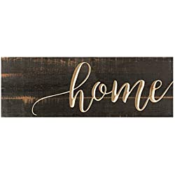 P. Graham Dunn Home Distressed Engraved 16 x 6 Inch Solid Pine Wood Plank Wall Plaque Sign