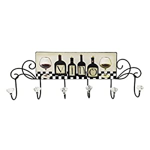 Creative Motion 6 Hooks with Wine Design