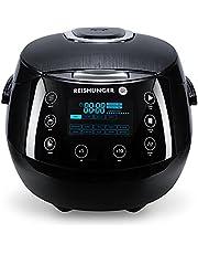 Reishunger Digitale rijstkoker (1.5l/860W/220V) Multi-cooker met 12 programma's, 7-fase technologie, premium binnenpot, timer en warmhoudfunctie - rijst voor maximaal 8 personen