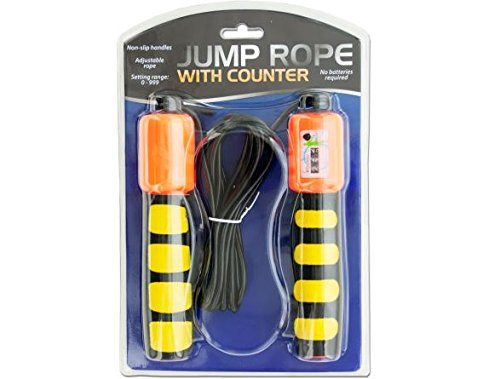 K&A Company Rope Jump Counter Non Slip Handles And Sports Training Fitness Exercise Case of 30 by K&A Company