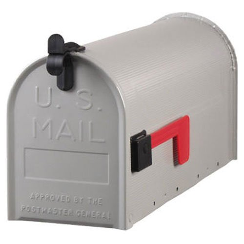 Solar Group ST100000 PostMaster Standard Size Galvanized Steel Rural Mailbox U.S. Postmaster General Approved, Gray