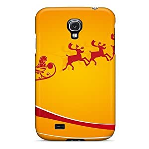 pc Mialisabblake Shockproof Scratcheproof Santa Claus With Gifts Hard Case Cover For Galaxy S4