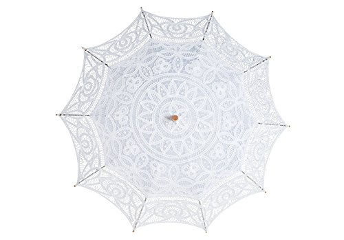 The 1 for Vintage Batternburg Lace Parasol 8 Colors (White) by The 1 for U (Image #2)