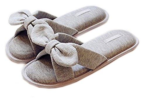 Maybest Womens Sweet Warm Warm Slip-on Zoccoli Antiscivolo Casa Antiscivolo Grey2