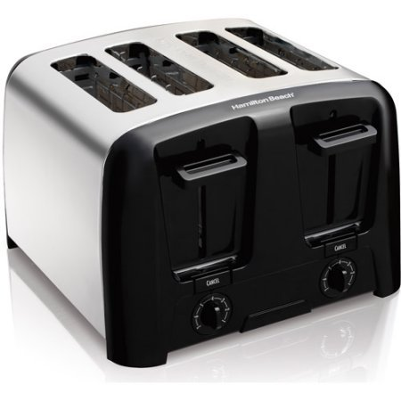 Hamilton Beach Cool Wall 4-Slice Toaster, Chrome, Extra-wide slots (Viking Wall Oven Parts compare prices)