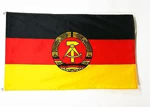 AZ FLAG Bandera de Alemania del Este 150x90cm - Bandera REPÚBLICA DEMOCRÁTICA Alemana 90 x 150 cm: Amazon.es: Hogar