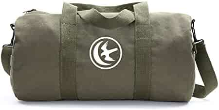 a7571c531d Game of Thrones House Arryn Sigil Army Sport Heavyweight Canvas Duffel Bag  in Olive   White