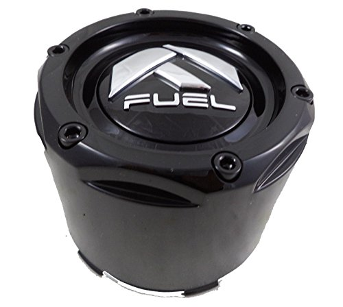 Fuel Gloss Black Rivets Custom Wheel Center Caps Set of One (1) - Road Wheels Off Custom