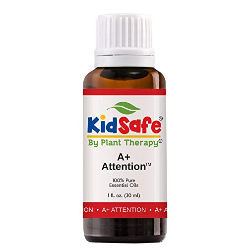 Plant Therapy Essential Oils A+ Attention Synergy - Focus, Mind Calming, Concentration Blend 100% Pure, KidSafe, Undiluted, Natural Aromatherapy, Therapeutic Grade 30 mL (1oz)
