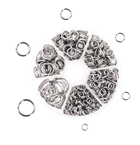 (Mandala Crafts Double Jump Ring, Split Ring from Stainless Steel for Jewelry Making, Chandelier Connectors, Keys, and Suncatchers )