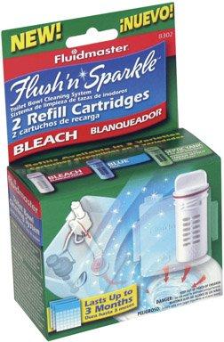 Fluidmaster 8302P8 Flush N Sparkle Bleach Replacement Cartridge