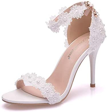 Heels Charm Women S Open Toe Stiletto High Heel Ankle Strap
