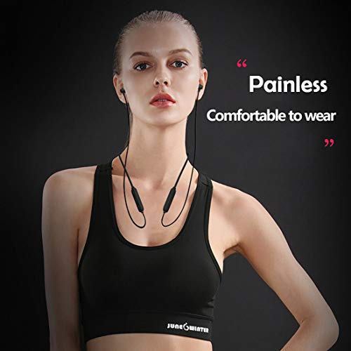 Wireless Headphones, Bluetooth 5.0 Earbuds 10 Hrs Playback HiFi Stereo in-Ear Earphones with Mic, IPX5 Waterproof & Sweat Proof Gym Sports Neckband Noise Cancelling Headsets (Comfy & Fast Pairing)