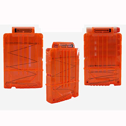5 Dart Rounds Magazine Darts Quick Reload Clip System Kit For Nerf N-Strike 9927