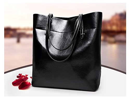 Annystore Tote Womens Handle Top Purse Bag Handbags Leather Satchels Red Bags Hobo qEEBra