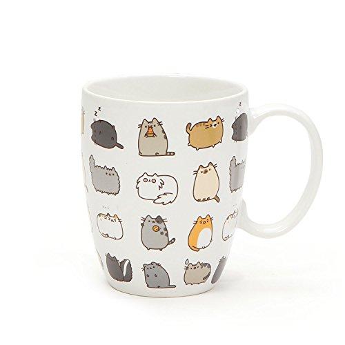 "Pusheen by Our Name is Mud ""Pusheen Kitties"" Stoneware Coffee Mug and Coaster Gift Set, 12 oz."