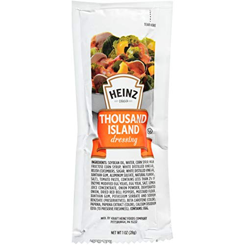 (Heinz Thousand Island Dressing Single Serve (1.5 oz Packets, Pack of 100))