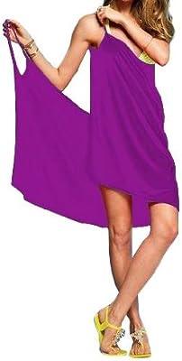 Para mujer colour morado playa de costura para confeccionar ...