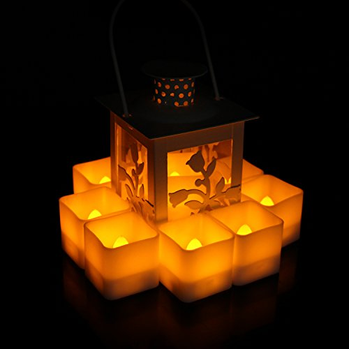 Horeset-12pcs-Square-Flameless-Candle-Yellow-Plastic-Flickering-LED-Tea-Lights-Faux-Battery-Operated-Electric-Lights-Fake-LED-candle-for-Home-Decor-Weddings-Birthday-Home-Party-GiftsSML