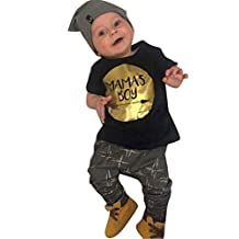 Newborn Baby Boy Clothing Set Summer Mama's Boy T shirt Harem Pants Outfit Set