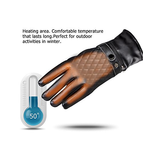 BIAL Battery Heated Touch Screen Gloves for Men Women Motorcycle Skiing Cycling Thickening Hand Warmer