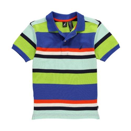 Nautica Little Boys' Stripe Polo (Multi 7)