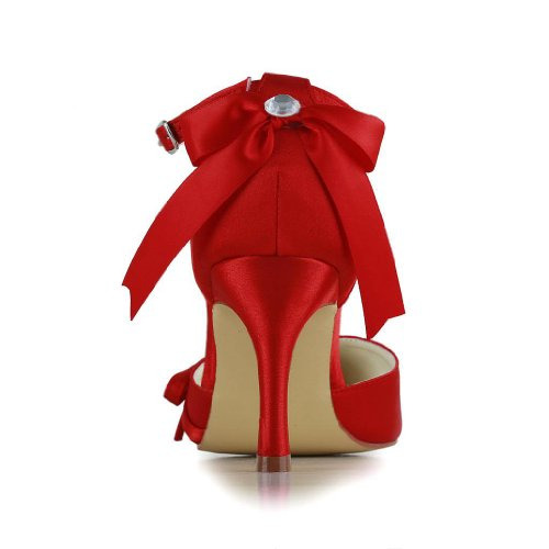 Jia Jia Wedding A313b Hochzeitsschuhe Brautschuhe Damen Pumps Rot