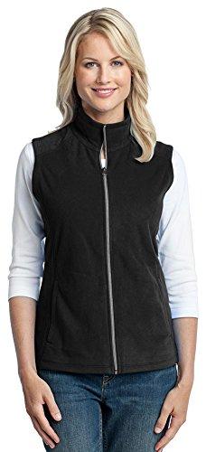 Port Authority Womens Vest (Port Authority Ladies Microfleece Vest, XL, Black)