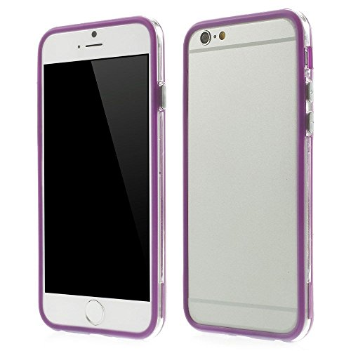 Iphone 6 plus 6s plus (5.5 inch) Silicon Bumper Transparent Purple by G4GADGET®