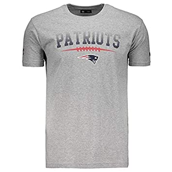 Camiseta New Era NFL New England Patriots Cinza  Amazon.com.br ... 97dd8c17ad087