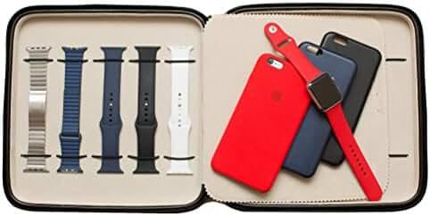Watch Case Storage Portfolio For 10 Large Size Watches Black with Zipper