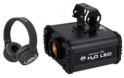 American DJ H20 LED IR Multi Color Water Flow Light Effect+Wireless Headphones by American DJ
