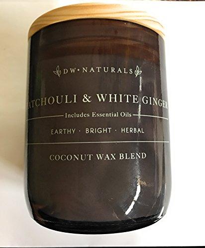 Ginger Patchouli - DW Naturals Patchouli & White Ginger Coconut Wax Blend Jar Candle 17.6 Oz