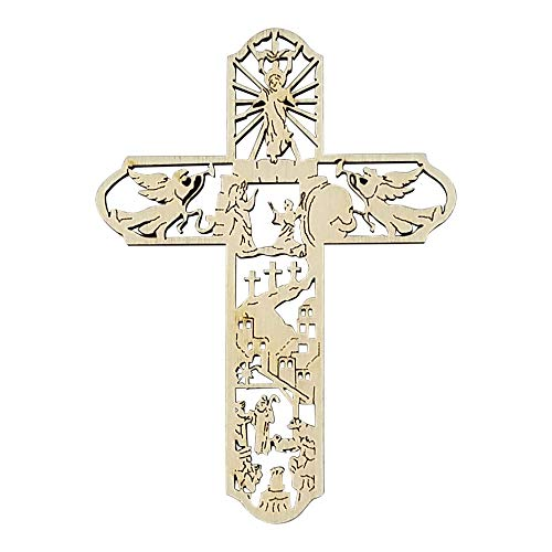 - Imprints Plus Laser Cut Alder Wood The Life of Christ Ornament Hand Finished and Lacquer Coated (AW CR 70015)