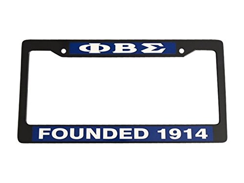 Phi Beta Sigma Founding Year Black Plastic License Plate Frame Greek Fraternity Letter For Front Back of Car