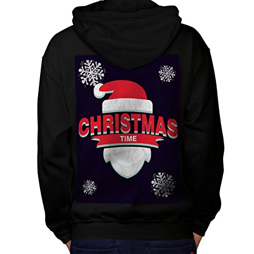 Mistle Toe Hat (Time Santa Hat Christmas Men M Hoodie Back | Wellcoda)