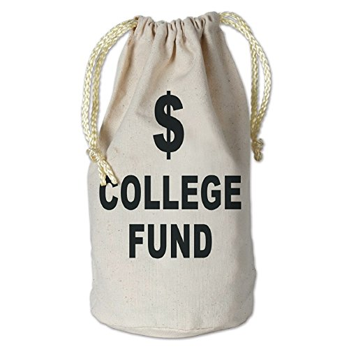 Club Pack of 12 College Fund Money Bag with Drawstring Graduation Party Favor Accessories 8.5'' by Party Central (Image #1)