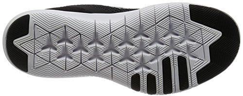 Nike Womens Flex Trainer 7 (ampia) Scarpa Da Corsa Nero / Argento Metallizzato - Antracite - Bianco